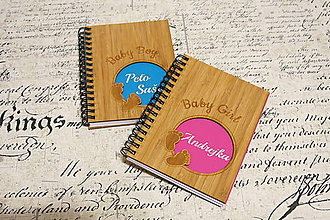 Papiernictvo - Zápisník - Baby Boy / Baby Girl - 6614257_