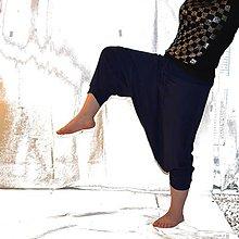 Nohavice - 3/4 turky temně modré - 6611983_