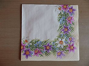 Papier - kvetinový lem - 6613829_