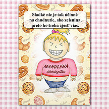 "Papiernictvo - Zápisník jedál s vtipným citátom ,,Sladkosti vs zelenina"" (1) - 6614763_"