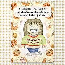 "Papiernictvo - Zápisník jedál s vtipným citátom ,,Sladkosti vs zelenina"" (4) - 6614785_"