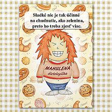 "Papiernictvo - Zápisník jedál s vtipným citátom ,,Sladkosti vs zelenina"" (5) - 6614787_"