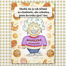 "Papiernictvo - Zápisník jedál s vtipným citátom ,,Sladkosti vs zelenina"" (6) - 6614788_"