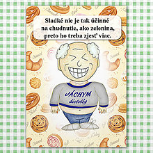 "Papiernictvo - Zápisník jedál s vtipným citátom ,,Sladkosti vs zelenina"" (8) - 6614790_"