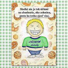 "Papiernictvo - Zápisník jedál s vtipným citátom ,,Sladkosti vs zelenina"" (9) - 6614792_"