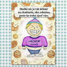"Papiernictvo - Zápisník jedál s vtipným citátom ,,Sladkosti vs zelenina"" (10) - 6614793_"