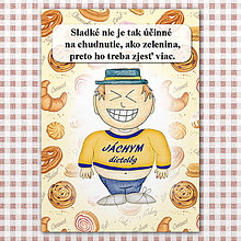 "Papiernictvo - Zápisník jedál s vtipným citátom ,,Sladkosti vs zelenina"" (11) - 6614795_"