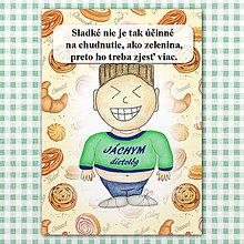 "Papiernictvo - Zápisník jedál s vtipným citátom ,,Sladkosti vs zelenina"" (13) - 6614800_"