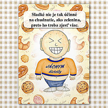 Papiernictvo - Zápisník jedál s vtipným citátom ,,Sladkosti vs zelenina