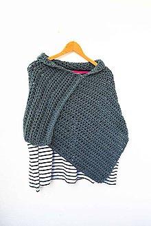 Iné oblečenie - Zľava 50%_PoNCHo... asymmetrical... v Šedej... - 6617307_