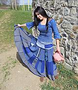 Sukne - Retro blue maxi flamengo sukňa - 6617289_
