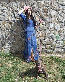 Sukne - maxi sukňa maľovaná - 6617352_