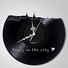 Hodiny - panoráma Banská Bystrica - LP vinyl clocks - 6615588_