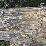Náhrdelníky - náhrdelník nerezový s perličkami - 6617530_