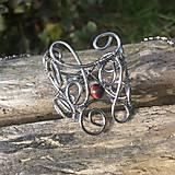 Prstene - prsteň ornamentálny nerezový s byčím okom - 6617661_