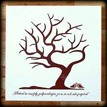 Obrazy - Svadobný strom na odtlačky - 6618119_