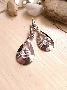 Náušnice - Swarovski rivoli crystals v slze - 6618417_