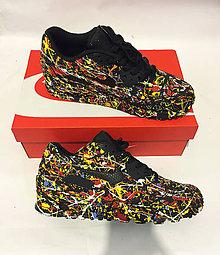 Obuv - Maľované tenisky Nike Air Max Pollock style - 6615444_
