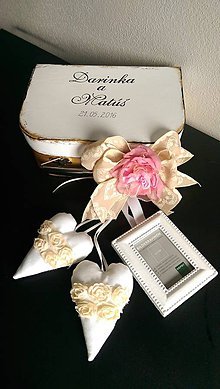 Kytice pre nevestu - Malý svadobný kufrík - 6615319_
