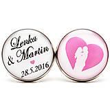 Šperky - Manžetové gombíky Two lovers - 6616838_