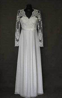 Tehotenské oblečenie - Svadobné šaty pre tehotné nevesty - 6616293_