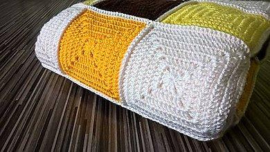 "Textil - Deka ""Žltohnedé štvorce"" - 6616704_"