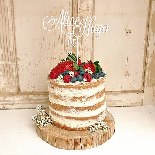 MENA Ženích a nevesta zápich na tortu