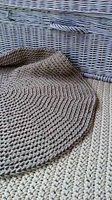 Úžitkový textil - Okrúhly koberec -100 % bavlna - 6618003_