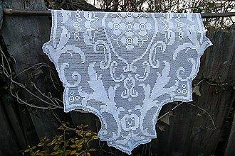 Úžitkový textil - Dečka biela háčkovaná veľká podlhovastá - 6616616_