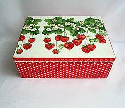 Krabičky - Krabica jahôdková - 6620015_