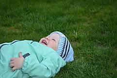 Detské čiapky - Skladom- Háčkovaná čiapka - 6621801_
