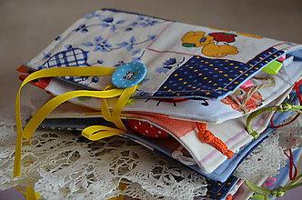 Hračky - Knižka detská, látková - 6621095_