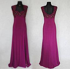 49ac96b4cf5e Šaty - Elastické spoločenské šaty vyšívané korálkami rôzne farby - 6620291