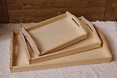 - kvalitné masívne drevené tácky set 3v1 - 6620977_