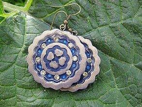 Náušnice - Kruhy (Ozdobné kruhy s kamienkami, č1528) - 6619335_