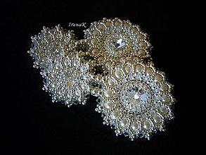 Náušnice - Silver mandalas (náušnice+brošňa) - 6621356_