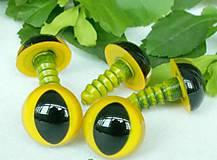 - Bezpečnostné očká mačacie žlté 14mm - 6619423_