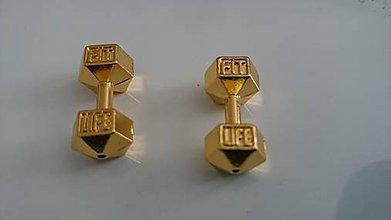 Korálky - Korálka činka - FIT LIFE zlatá - 6619531_