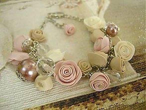 Náramky - Náramok Vintage Roses - 6619975_