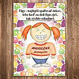 Papiernictvo - Zápisník jedál s vtipným citátom ,,Figa\