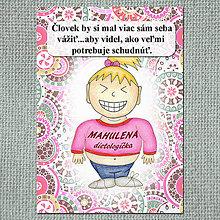 """Papiernictvo - Zápisník jedál s vtipným citátom ,,Váž si sám seba"""" (1) - 6621327_"""