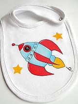 Detské doplnky - Podbradníček raketka - 6622730_