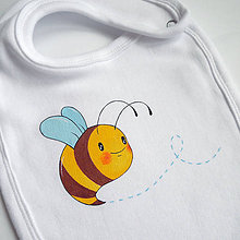 Detské doplnky - Podbradníček včielka - 6623609_