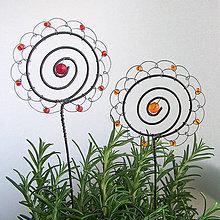 Dekorácie - zápich kvet v rozmaríne :) - 6622656_
