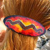 Ozdoby do vlasov - Sponka vo farbe ohňa - 6626400_