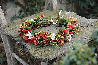 Ozdoby do vlasov - venček by michelle flowers - 6624210_
