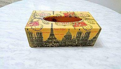 """Krabičky - Box na servítky-vreckovky """"Paris"""" - 6625078_"""