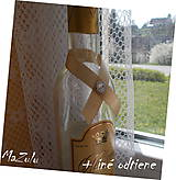 Pierka - stuha na svadobné fľaše - 6623329_