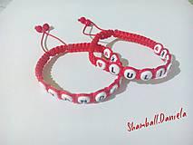 Náramky - Shamballa náramky s menom - 6624735_