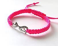 - S mačičkou - ružová neon - 6626004_